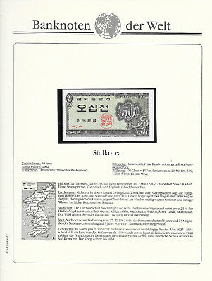 Banknotes of World Korea 50 jeon 1962 GEM UNC P29 serie 2