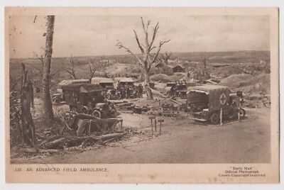 Early Postcard, Military Soldiers, An Advanced Field Ambulance,
