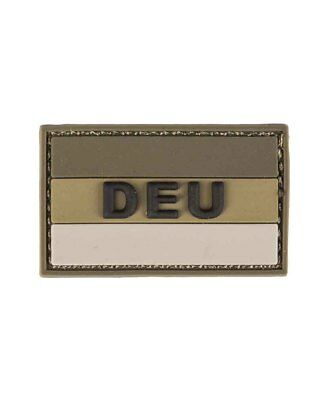 "BW Patch 3D ""DEU"" PVC m. Klett large, Camping, Outdoor, Military   -NEU-"