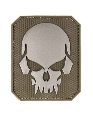 Patch 3D Skull PVC m. Klett large, Camping, Outdoor, Military   -NEU-