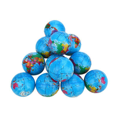 6.3cm Earth Globe Squishy Toy Planet Stress Relief Bouncy Press Ball Geography
