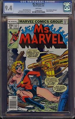 Ms. Marvel #17 CGC 9.4 NM White Pages Mystique cameo appearance Chris Claremont