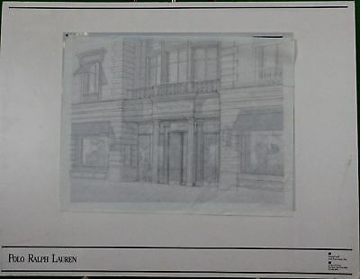 Polo Ralph Lauren Chicago Original Naomi Leff Architectural Rendering