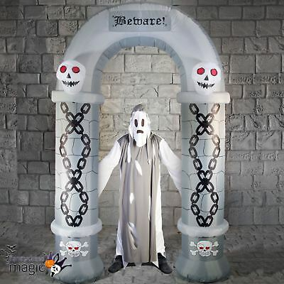 2.7m Outdoor Inflatable Light Up Halloween Cemetery Arch Archway Decoration Prop