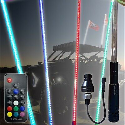 4ft 20 Color 200 Combination LED Lighted Whip - ATV-UTV-RZR-YXZ-Buggy-Off Road