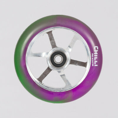 Chilli Pro 6-Spoked Wheel 110mm Purple/Green/Silver