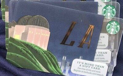 Starbucks LA Gift card Never Swiped! free shipping
