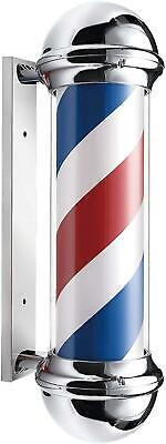 Jitsu LED Rotating Illuminating Barber Pole Sign Light Salon Hairdresser 60cm