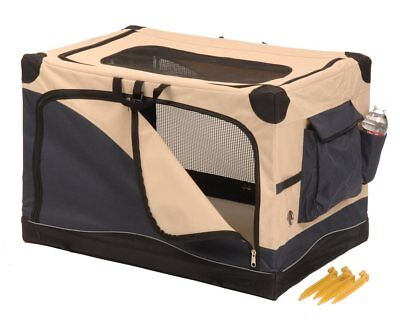 Precision Pet Great Crate Soft Sided Dog Crate in 4 Sizes with Carrying Case