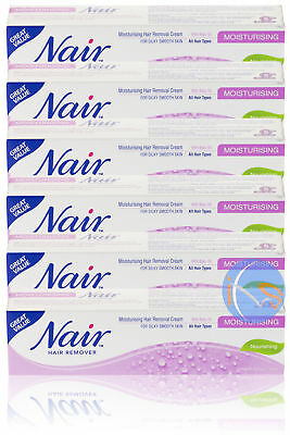 6x NAIR MOISTURISING NOURISHING HAIR REMOVAL CREAM WITH BABY OIL 80ML