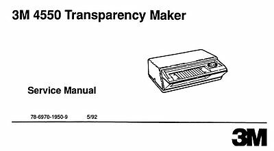 3M 4550 Transparency Maker Service and Parts Manual FIX your Thermofax Machine