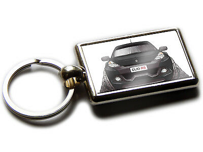Koolart Cartoon Car Ford Escort MK 5 Cabriolet Leather and Chrome Keyring