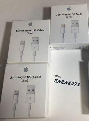 GENUINE Lot of 3x Original OEM 2M,6ft  OR 1m 3ft Apple iPhone 7,6,5,8, X Cable