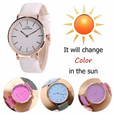 Womens Mens Temperature Change Color Watch Couples Creative Quartz Wrist Watch