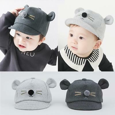 Cute Baby Hat Cartoon Cat Kids Baseball Cap Toddler Infant Boy Girls Sun Hat Lot