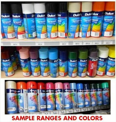 DULUX 325 g SPRAY CANS MIX COLORS BE QUICK $5.00 EACH LIST PROVIDED colour paint