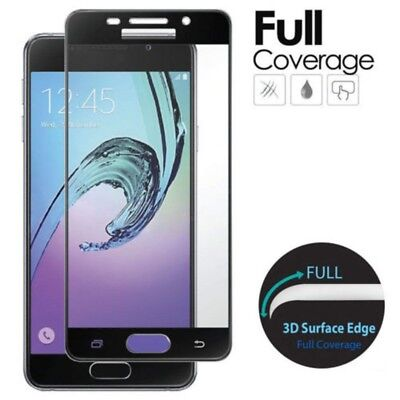 Samsung Galaxy J3 J5 J7 2016/2017 Full Cover Tempered Glass Screen Protector New