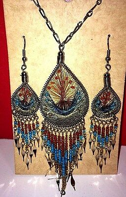 Artesian Spirit Necklace And Earring Set Made In Peru