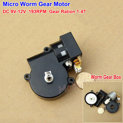 DC 9V 12V 193RPM Micro Worm Gear Motor Small Turbo Gearbox Reduction DIY Parts