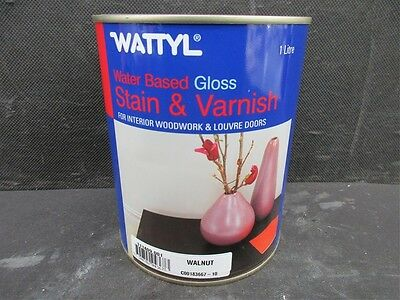 1lt Wattyl Stain & Varnish Water based Gloss finish in WALNUT p/up Mt Eliza