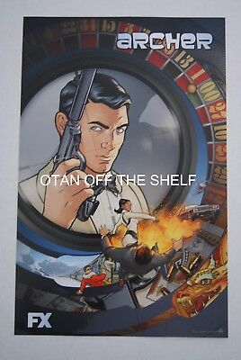 SDCC Comic Con 2015 EXCLUSIVE FX ARCHER Tv series promo poster