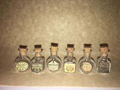 Halloween Apothecary Potion Bottles Dollhouse Miniature Harry Potter Inspired