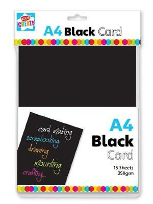 A4 Black Card Craft Paper-Card-Activity Paper 15 sheets
