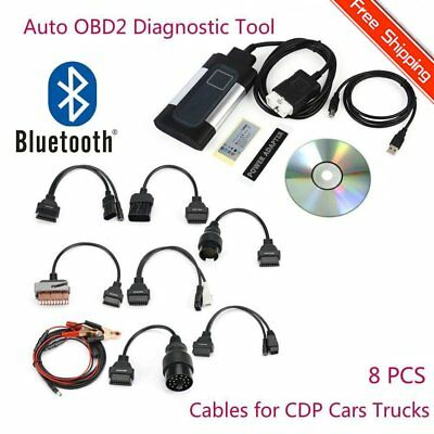 Bluetooth TCS CDP Pro Plus for autocom OBD2 Diagnostic Tool+8PCS Car Cables RK