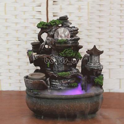 Relaxation Fountain Waterfall Desktop Small Water Sound Indoor Table Led Monk