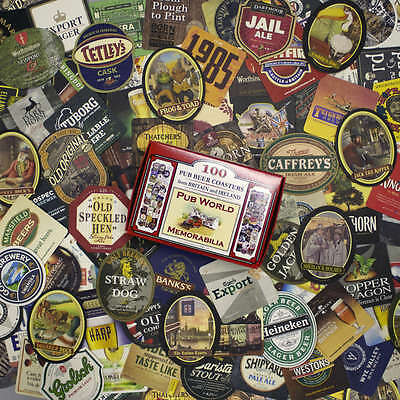 100 Famous Brand British & Irish Pub BEER MAT COASTERS | all different