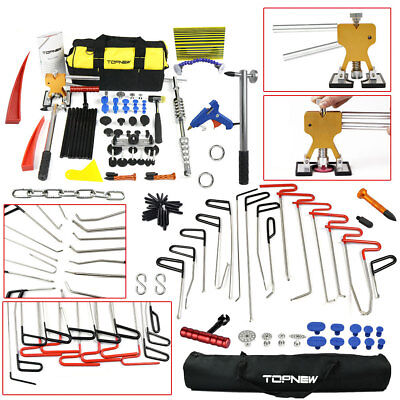 PDR Whale Tail Red Rods Tools Auto Paintless Dent Repair Slide Hammer Puller Kit