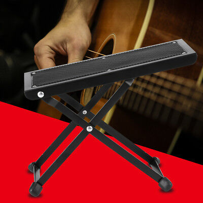 Foldable Guitar/Drum Pedal Anti-Slip Foot Rest Stand Stool 4 Level Adjustable