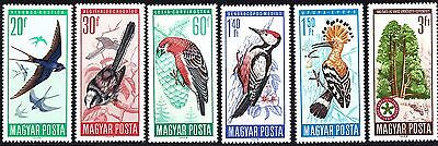 Hungary 1966 Mint Protected Birds Complete Set of Stamps MNH