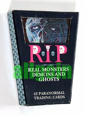 R.I.P. RIP REAL MONSTERS DEMONS AND GHOSTS Paranormal Trading Cards MOLTO RARE