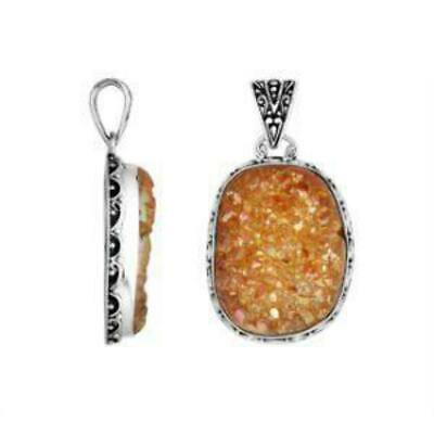 Sterling Silver Lovely Delightful Pendant With Druzy AP-9023-DZ