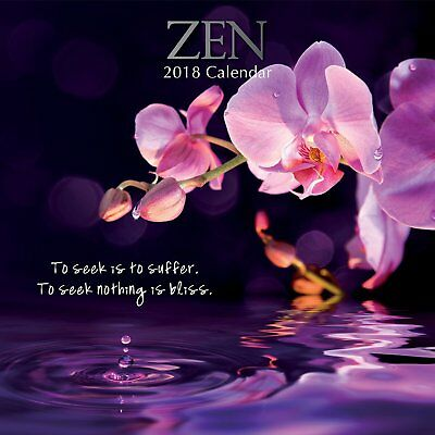 Zen 2018 Wall Calendar by the Gifted Stationery, NEW, Postage Included