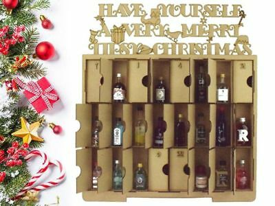 Laser Cut Super Sized Christmas Advent Calendar with Doors To Fit Alcohol Mini's