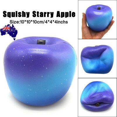 Starry Apple Cream Scented Squishy Slow Rising Squeeze Strap Kids Toy Gifts AU