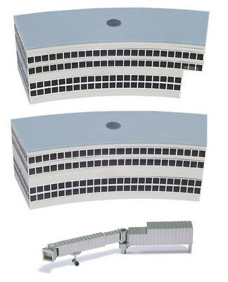 Herpa Wings Airport Building Departure Halls Half Round x 2 1/500 Scale 519823