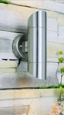 Outdoor Stainless steel up & down wall light, GU10 IP54 Garden Wall Light