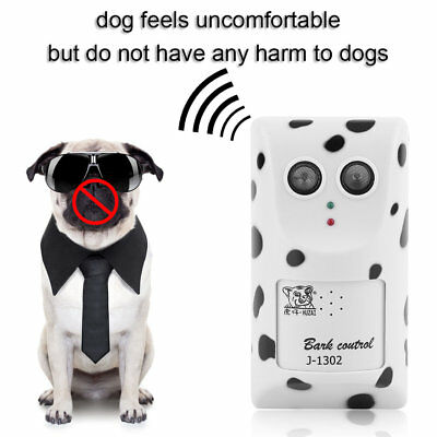 Humanely Ultrasonic Anti No Bark Control Device Stop Dog Barking Silencer PR