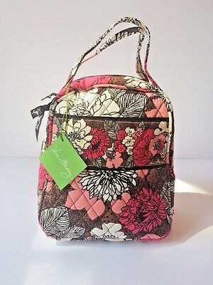 New With Tag Vera Bradley Lunch Bunch Box Bag in Mocha Rouge