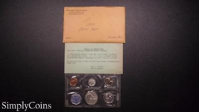 1959 Proof Set ~ Original Envelope With COA ~ US Mint Silver Coin Lot SKU-473