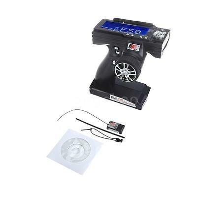Flysky FS-GT3B 2.4G 3CH Radio RC LCD Transmitter & Receiver for RC Car U2L0