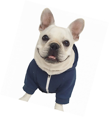 Zip Up Hoodie Pet Costume Dog Clothes Outfit Funny Sweater French Bulldog Pug