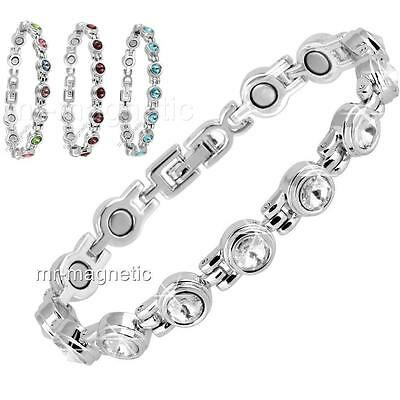 Ladies Magnetic Healing Anklet Mixed Crystals Bangle Arthritis Pain Relief