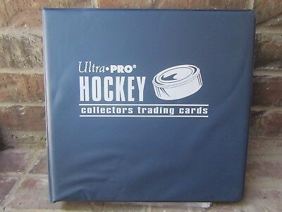 "Blue Ultra Pro 3 1/2"" 3-Ring Hockey Binder Album w/ 90+ Ultra Pro Pages"