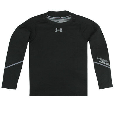 Under Armour Boy's ColdGear Infrared Grid Hybrid Fitted L/S Shirt Black/Steel L