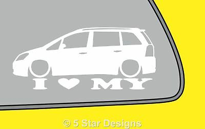 2x LOVE LOW Vauxhall Zafira B VXR Opel OPC zafira B outline sticker LR190