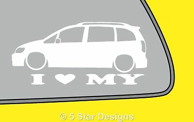 2x LOVE LOW Vauxhall Zafira AVXR OPC GSi outline sticker LR303
